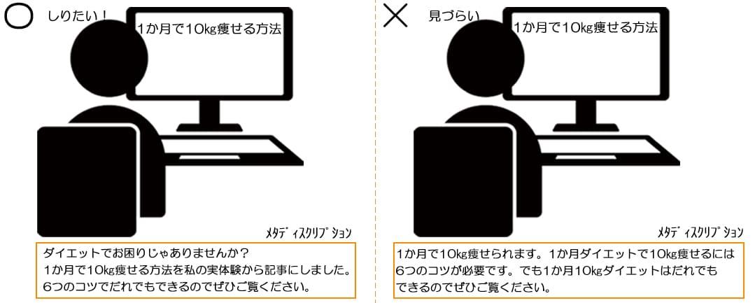 メタディスクリプションのイメージ